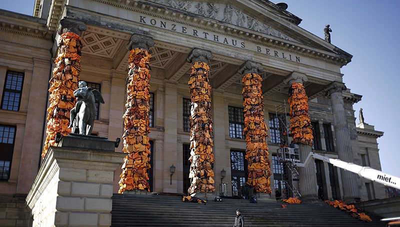 Germany Ai Weiwei Refugees Life Vests